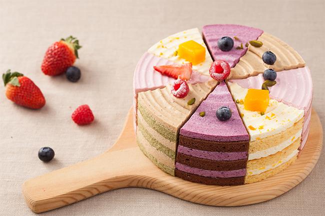 玲珑八角裸蛋糕