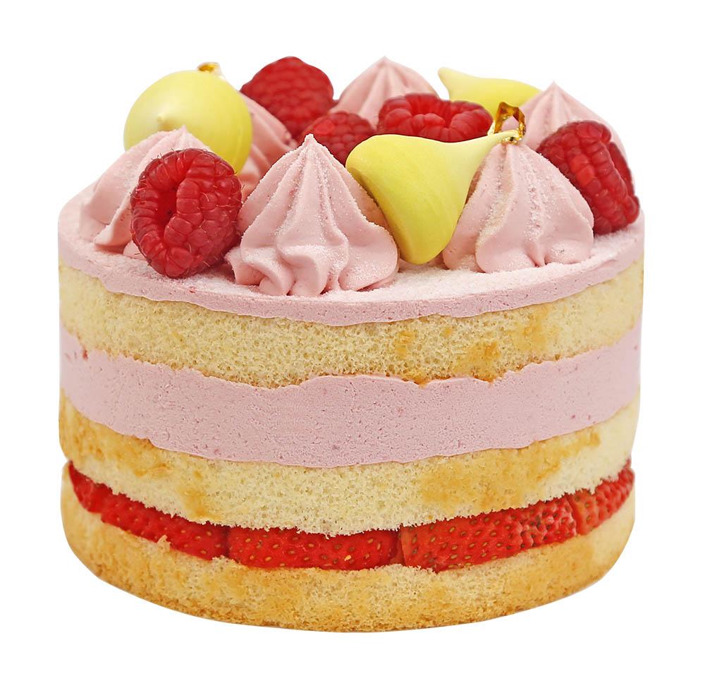 花团锦簇酱心裸蛋糕