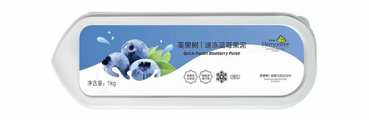 速冻蓝莓果泥